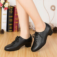 Women's Latin dance shoes Ballroom Teachers shoes Genuine leather modern dancing