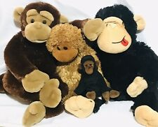 Monkey Ape Gorilla Mixed Lot Plush Stuffed Animals Brown Black Ty Aurora Dan Dee