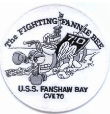 """5"""" Navy Uss Fanshaw Bay Cve-70 Embroidered Patch"""