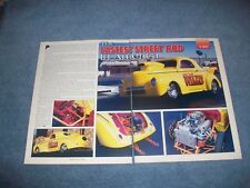 "1941 Hot Rod Willys Drag Car Vintage Article ""Fastest Street Rod IN America"""