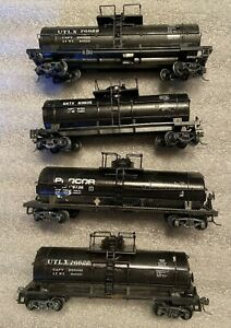 Lot of 4 HO Scale Tank Cars Weighted? Various Brands