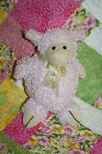 """Best Made Toys LAMB 11"""" Curly Pink Lavender Plush Easter Egg Bow Stuffed Soft"""