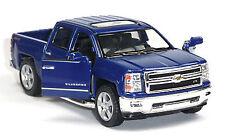 2014 Chevrolet Silverado Sammlermodell dunkelblau 1:46 von Kinsmart Neuware!