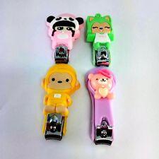 1 Nail scissors sharp beauty colorful cartoon cute clipper Manicure tool alloy