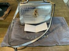 100% Genuine Mulberry Mini Seaton bag in metallic croc leather brand new