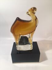 Colored Glass camel figure, In good condition.