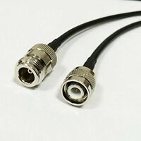 TNC male to N type female jack pigtail cable RG58 50CM for wifi wireless NEW Go
