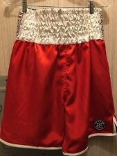 Red Boxing Trunks With White Waistband Boxxerworld Size M