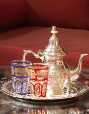Moroccan Tea Set, 2 Cups Tea Glasses, Teapot , Tea Tray **Brand New**