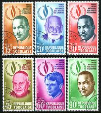 Togo 665-668,C102-C103,CTO.M.L.King Jr.,R.Cassin,Pope John XXIII,R.Kennedy,1969