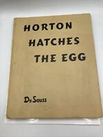 1st Edition 1940 Hardcover Dr Seuss HORTON HATCHES The EGG