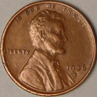 1936 D Lincoln Wheat Penny - G/VG