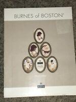BRAND NEW BURNES OF BOSTON PEWTER 6 OVAL MINI PHOTO COLLAGE 2 X 3 PHOTOS