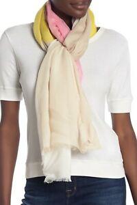 Calvin Klein Womens One Size Colorblock Frayed Pashmina Scarf A9WA5318 $58 927