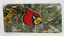 Louisville Cardinals Realtree Camo Car Truck Auto Tag License Plate Game Room