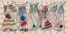 ABSTRACT SURREALIST FACES Marker Pen & Ink Drawing ARTHUR MITSON 1993