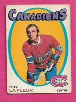 1971-72 OPC # 148 CANADIENS GUY LAFLEUR ROOKIE VG CARD (INV# J0040)