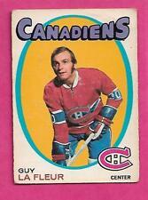 1971-72 OPC # 148 CANADIENS GUY LAFLEUR ROOKIE VG CARD (INV# J0040)