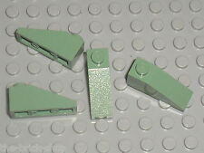 4 x sandGreen slope brick LEGO ref 4286 / set 4729 4754 4758 4752 7153 65153 ...