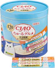New listing Inaba-Petfood Japan Ciao Tulle Hairball Cat Food Tuna Seafood mix Taste 14g×120