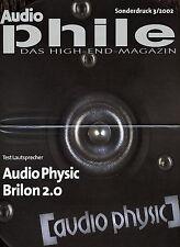 Sonderdruck Audiophile 3 2002, darin Test Lautsprecher Audio Physic Brilon 2.0