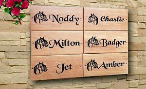 Horse Dog Pet Name Stable Door Sign Carved Wooden House Plaque Engraved Oak Wood