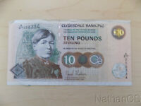Scotland Clydesdale Bank 10 Pound Sterling Note 1998