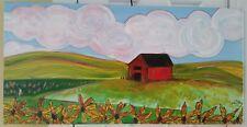 Jami Tobey-Kiendra (1974-?) listed artist signed Field of Sunflowers painting EC