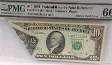$10 PRINTED FOLD ERROR PMG 66EPQ