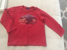 Boys Naartjie Red Shirt Size 7 Snow Mobile Waffle Cotton
