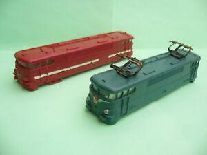 2 coques de locomotive JOUEF BB 9288 et BB 9201, train à l'échelle HO