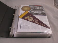 1939-40 New York World's Fair Estate Collection Binder 27 pgs 106 Individual Pcs