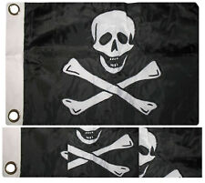 12x18 Embroidered Edward England Pirate No Patch Double Sided Nylon Boat Flag