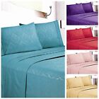 Egyptian Comfort 1800 Count Hotel Quality Embossed Floral Sheet Set