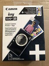 Canon Ivy CLIQ+2 Instant Camera Printer, Smartphone Printer, Midnight Navy