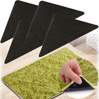 4 Pack Rug Grippers Stopper Anti Slip Rubber Corner Mat Washable Carpets Pad