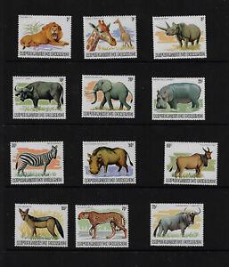 Burundi Scott # 589 - 600 NH VF OG stamps (Missing 601 to complete the set)