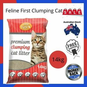 New-Feline First Clumping Cat Litter-14kg-Free Shipping-Au