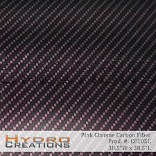 HYDROGRAPHIC FILM FOR HYDRO DIPPING WATER TRANSFER FILM PINK CHROME CARBON FIBER