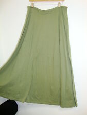April Cornell Sage Green Skirt New XL Extra Large Vintage Romantic A-line Tuck