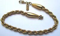 Top bracelet gourmette rétro couleur or maillon couleur or rhodié signé MONET 89