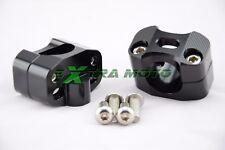 Coppia riser manubrio adattatori da 22mm a Ø 28mm universali ergal CNC nero 04