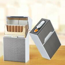 Creative USB Automatic Cigarette Case Box Lighter Case Holder Windproof