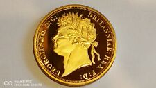 New Collectable 40mm George llll 1821 Gold Plated bullion Coins