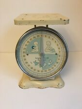 Vintage Mid Century Nursery Baby Scale 30 pounds by Ounces