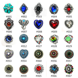Hot Charm 3D Crystal Chunk  Snap Button Fit For Noosa Necklace/Bracelet Jewelry