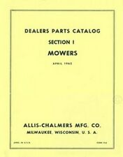 ALLIS CHALMERS No. 3 5 7 B C WC Mowers Parts Manual