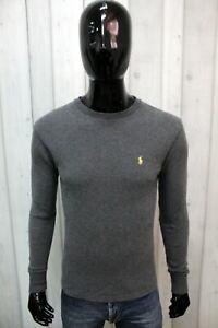 Maglione Ralph Lauren Uomo Taglia S Grigio Sweater Cotone Maglia Logo Maglietta