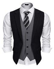 Coofandy Men's Formal Fashion Layered Vest Waistcoat Dress Suit Wedding NEW