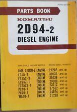 Komatsu Diesel Motor 2 D 94 - 2 Ersatzteil-Liste